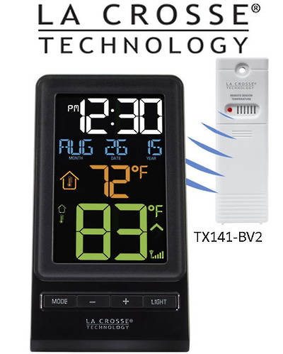 308-1415 La Crosse Color Digital Wireless Thermometer and Time