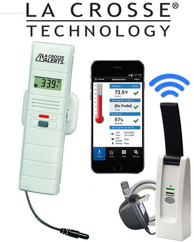 926-25101 La Crosse WIFI Temp Humidity Alert System with Dry Temp Probe