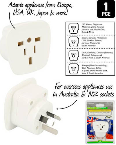 Travel Adaptor for USA use in Australia and NZ