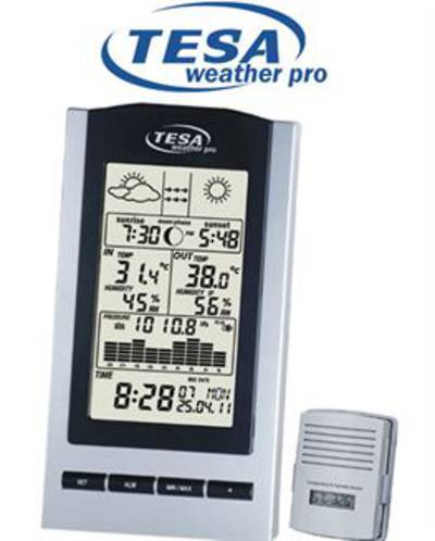 WS1151 Wireless Moon Phase Weather Station with Barometer