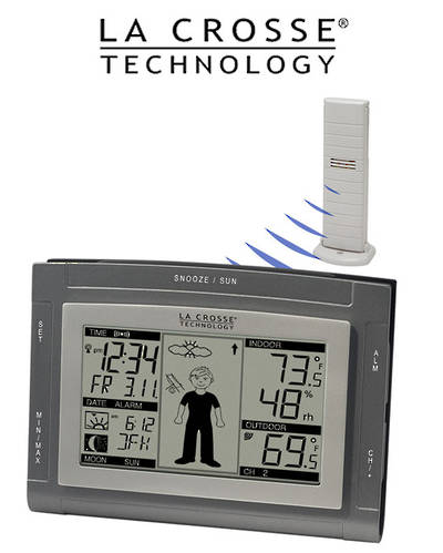 WS9611U-IT La Crosse Wireless Weather Station with Sun/Moon and Advanced Forecast Icon