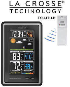 308-1425C La Crosse Digital Forecast Station with Temperature Alerts