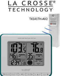 308-1711BL La Crosse Wireless Weather Station with Heat Index and Dew Point