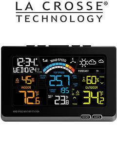 327-1414W Ver2 La Crosse Professional Wind Speed Colour Weather Station