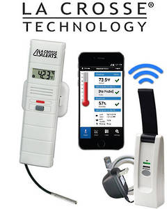 926-25102-GP LA CROSSE Wi-Fi Temp & Humidity Alert System with S/Steel Wet Temp Probe