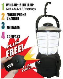 BSAFE-LAMP  Emergency Power Lamp with Mobile Phone Charger Kit