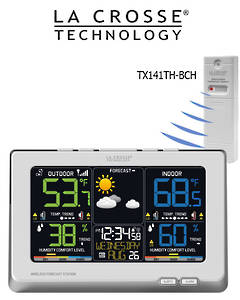 C87030 La Crosse Wireless Color Weather Station up to 3 Outdoor Sensors