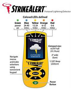 HD3000 StrikeAlert Commercial Lightning Detector