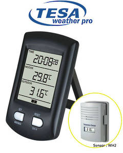WS0200 Digital Clock Desktop Temperature Station up to 3 Sensors