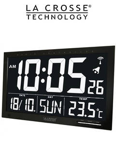 WS8007 La Crosse Digital Large Display Wall Clock