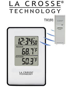 308-1910 La Crosse Wireless Indoor Outdoor Thermometer