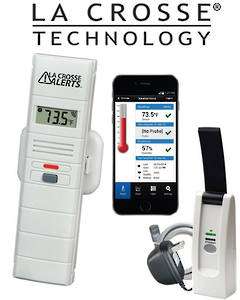 926-25100-GP LA CROSSE Temperature and Humidity Monitor and Alert System