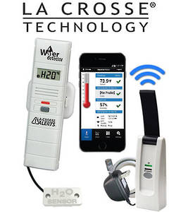 926-25104 LA CROSSE Temp & Humidity Alert System with Remote Water Leak Detector