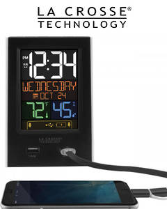 C86224 Alarm Clock Charging Station with 2 USB Charging Ports