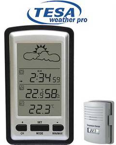 WS1281 TESA Wireless Weather Station plus free La Crosse Portable Battery Tester